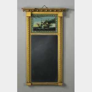 Federal Gilt Gesso Eglomise Mirror