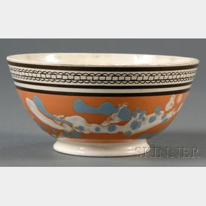 Mochaware Slip-marbled Bowl