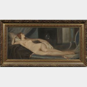 Attributed to Otto Friedrich (Hungarian, 1862-1937)      Portrait of a Reclining Nude
