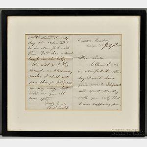 Grant, Ulysses S. (1822-1885) Autograph Letter Signed, 10 July 1870.