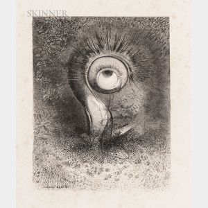 Odilon Redon (French, 1840-1916)      Il y eut peut-être une vision première essayée dans la fleur