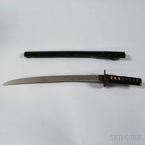 Japanese Katana and Lacquered Wood Scabbard