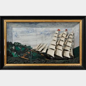 Sailing Ship Shadow Box Diorama