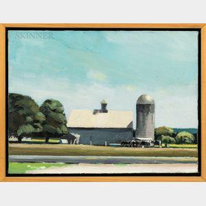 David Gloman (American, b. 1958)      Barn and Silo