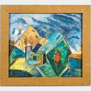 Joseph Meierhans (Swiss/American, 1890-1981)      Cubist Landscape