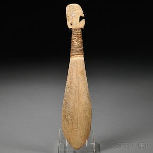 Northwest Coast Carved Bone Club