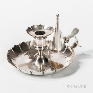 Victorian Sterling Silver Chamberstick