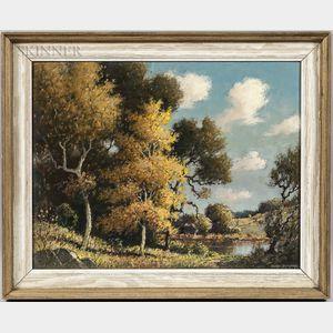 Benson Bond Moore (American, 1882-1974)      Autumn in Maryland (Seneca Creek)