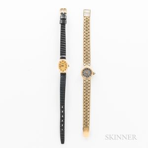 Two 14kt Gold Lady's Wristwatches