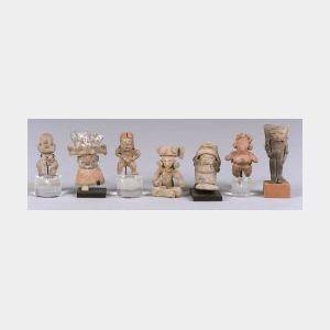 Seven Small Pre-Columbian Figures