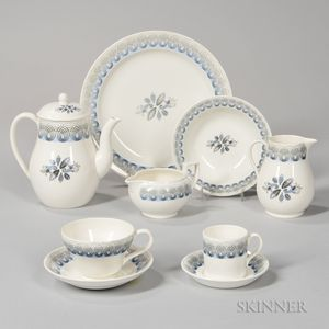 """Assembled Wedgwood Eric Ravilious Design """"Persephone"""" Pattern Luncheon Service"""