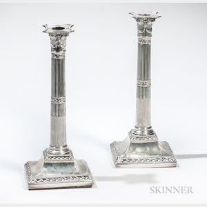 Pair of George III Sterling Silver Candlesticks