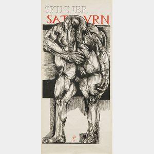 Leonard Baskin (American, 1922-2000)      Saturn