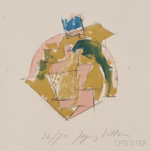 Jacques Villon (French, 1875-1963)      La Tête