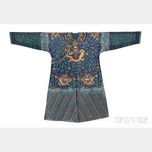 Embroidered Gauze Semiformal Robe