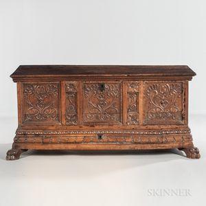 Renaissance Revival Carved Walnut Cassone