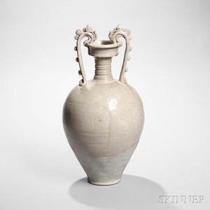 Straw-glazed Stoneware Amphora