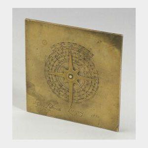 Brass Italian Sundial
