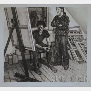 Catherine E. Murphy (American, b. 1946)      Studio Interior with Two Figures.