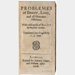 Buoni, Tommaso (1574-1607) Problemes of Beauty, Love, and all Humane Affections, with a Discourse of Beauty by the Same Author. Transla
