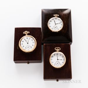 Three Howard & Co. Open-face Watches