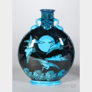 Mintons Earthenware Moon Flask