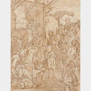 Italian School, Early 17th Century      Nativity