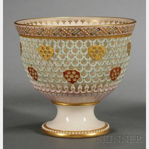 Royal Worcester Porcelain Double-walled Footed Bowl