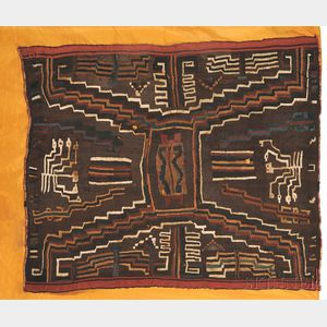 Sold for: $8,888 - Pre-Columbian Multicolored Textile Panel