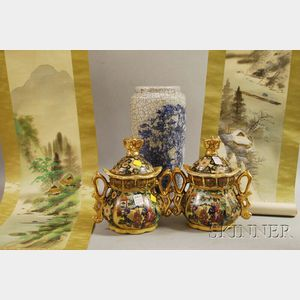 Group of Assorted Japanese Decorative Articles