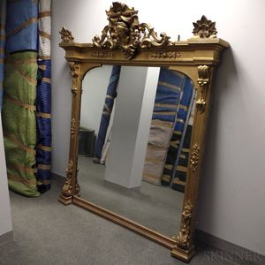 Large Renaissance Revival Gilt and Carved Mirror