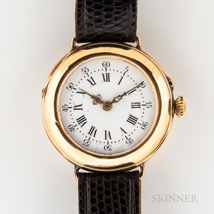 LeCoultre & Co. 14kt Gold Converted Wristwatch