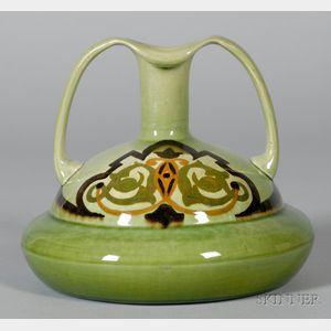 Ault Christopher Dresser Design Earthenware Two-handled Vase