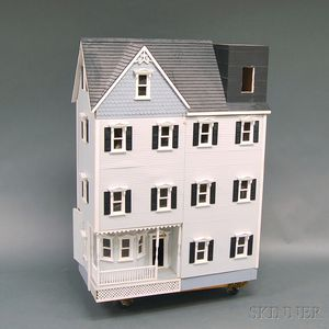 Large Three-story Victorian-style Dollhouse with Furnishings