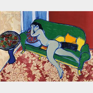 Corneille (Dutch, 1922-2010)      The Green Sofa