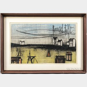Bernard Buffet (French, 1928-1999)      A Small Beach (La Petite Plage)  : Color Lithographic Book Jacket
