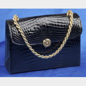 Vintage Alligator Hand Bag, Gucci