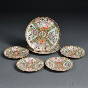 Six Rose Medallion Plates