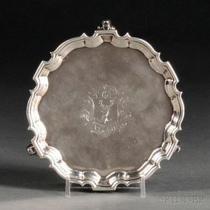 George II Sterling Silver Card Tray
