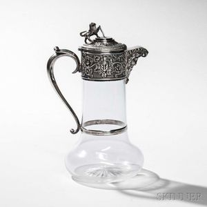 Victorian Sterling Silver-mounted Ewer