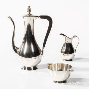 Three-piece Tiffany & Co. Sterling Silver Coffee Service