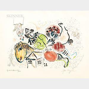 Marc Chagall (Russian/French, 1887-1985)      Le cirque ambulant