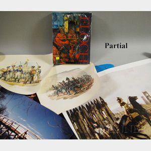 Karl Pallauf, Josef Floch, Leben Und Werk, 1894-1977, and Eleven Assorted Decorative Prints and Posters.