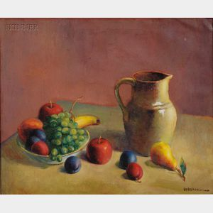 American School, 20th Century      Still Life with Fruit