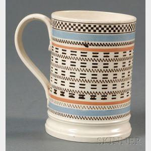 Mochaware Engine-turned Mug