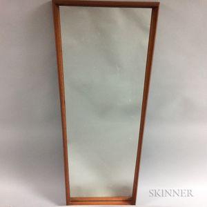 Danish Modern Teak Rectangular Mirror