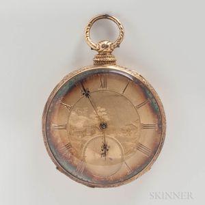 Arnold Adams & Co. 14kt Gold Open-face Watch