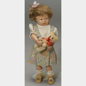 Schoenhut Wigged Toddler Girl