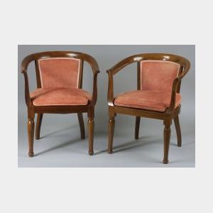 Pair of Louis Philippe Mahogany Armchairs