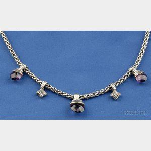 Sterling Silver, 14kt Gold  and Gem-set Necklace, David Yurman